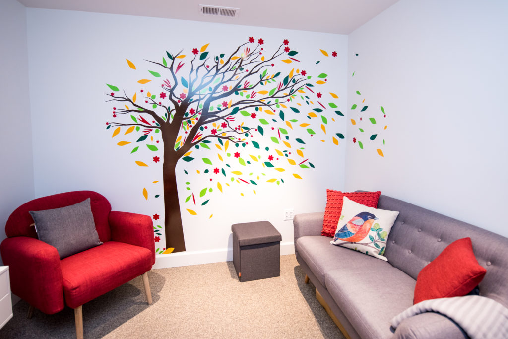 colorful tree on the wall